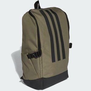 New Adidas 3 Stripes Green & Black Backpack Unisex